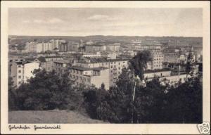 poland, GDYNIA GOTENHAFEN, Panorama (1930s)