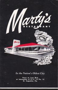 Martys Restaurant Saint Augustina Florida