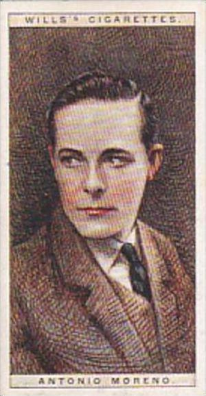 Wills Cigarette Card Cinema Stars 2nd Series No 18 Antonio Moreno