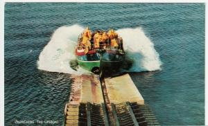 RNLI, Launching The Lifeboat PPC By Salmon, Unused, c 1960's, Shows Slipway