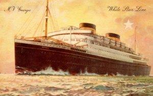 White Star Line - MV Georgic.   Artist: Thomas