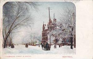 Sherbrooke Street in Winter,  Montreal, Canada, PU-00-10s