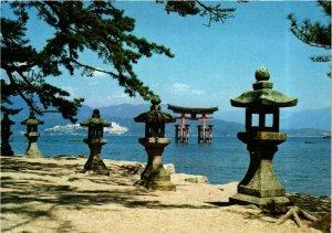 CPM AK HIROSHIMA Miyajima red torii gate JAPAN (677477)