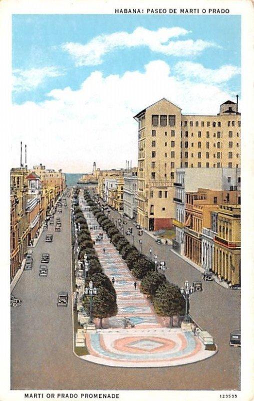 Marti or Prado Promenade Habana Cuba, Republica de Cuba Unused