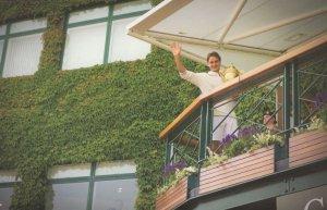 Roger Federer Wimbledon Tennis Centre Court Balcony 2012 Postcard