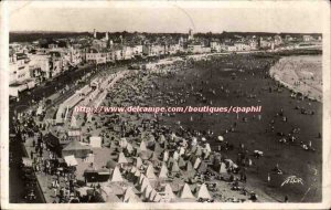 Sables d & # 39olonne Old Postcard Panoramic view of the beach taken from the...