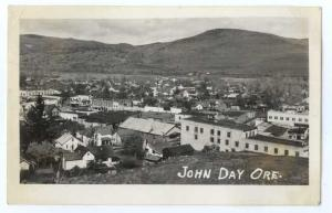 RPPC View of Downtown John Day Oregon OR 1952