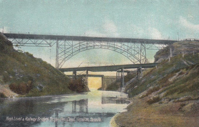 HAMILTON, Ontario, Canada, 1900-1910's; High Level And Railway Bridges Desjar...