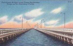 Twin Gandy Bridges, Across Tampa Bay Between Tampa & St. Petersburg, Florida,...