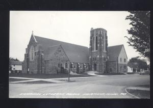 RPPC FAIRMONT MINNESOTA EVANGELICAL LUTHERAN CHURCH REAL PHOTO POSTCARD
