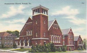 Exterior, Presbyterian Church, Pulaski, Virginia, 30-40s