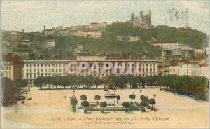Postcard Old Lyon Bellecour Square one of the more beautiful in Europe