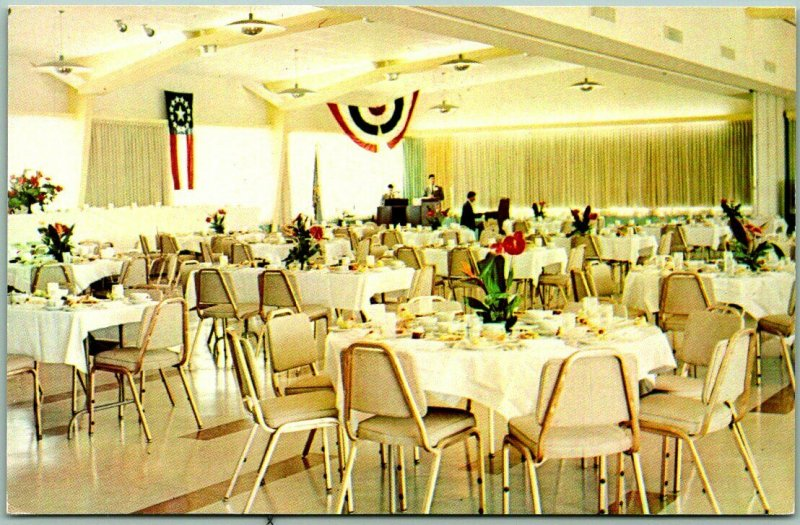 Sequoyah State Park, Oklahoma Postcard WESTERN HILLS LODGE Convention Room View