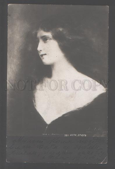 103115 BELLE Girl w/ LONG HAIR by Angelo ASTI old Russia PHOTO