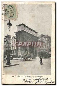Paris 10 - La Porte Saint-Martin - Old Postcard