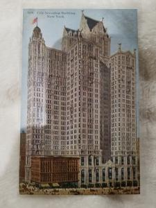 Antique Postcard, City Investing Building, New York