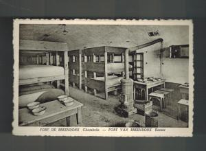 Mint 1940s Fort Breendonk Belgium Concentration Camp RPPC Postcard Barracks
