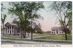 Gorham, Maine, Baxter Memorial Library and Baxter Museum