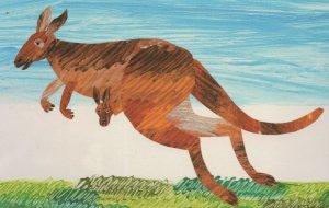 Kangaroo The Very Hungry Caterpillars ABC Eric Carle Book Postcard