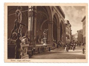 Italy Florence Loggia dell Orcagna Firenze Postcard 4X6 Lith