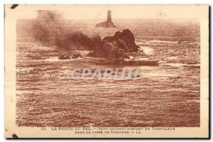 Old Postcard From Ponte Raz Wind Current Outgoing A Torpedo In La Passe De To...