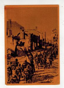 Mint WW2 Germany Spain Blue Division Soldiers marching in USSR RPPC Postcard