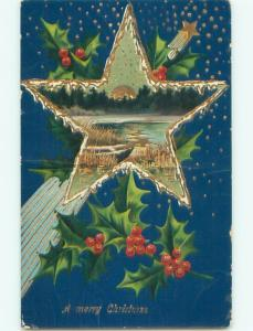 Divided-Back CHRISTMAS SCENE Great Postcard W9507