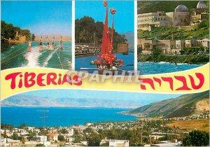 Postcard Modern Tiberias by the Sea of ??Galilee
