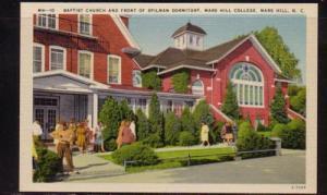 North Carolina postcard Baptist Ch Spilman Dorm Mars Hill