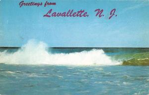 Lavallette New Jersey Ocean Waves Vintage Postcard JB626386