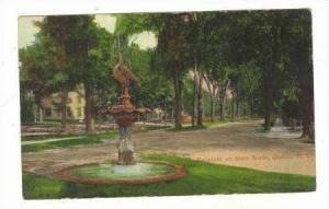 Fountain on Main Street, Oneida, New York , PU-1911