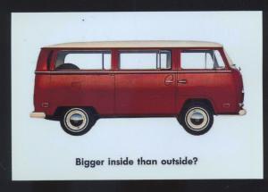 1970 VOLKSWAGEN VAN WV CAR DEALER ADVERTISING POSTCARD '70