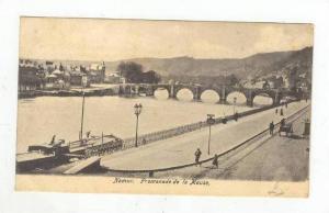 NAMUR, Belgium, PU-1905, Promenade de la Meuse
