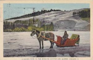 A Sleigh Ride In The Bracing Winter Air, Quebec, Canada, PU-1941