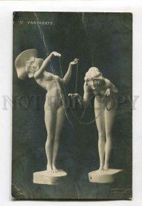 3135523 NYMPH Farfadet by RAPHAEL KIRCHNER old ART NOUVEAU TUCK
