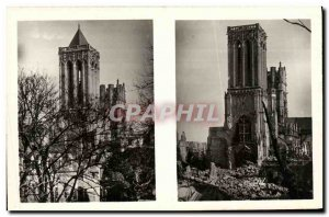 Old Postcard Caen The Church of Saint John the spring of 1939 and the spring ...