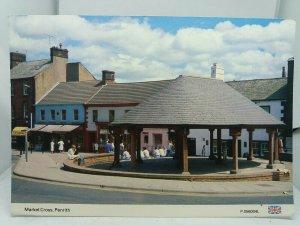Vintage Postcard Market Cross Penrith Cumbria
