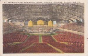 New Jersey Ocean Grove Interior Auditorium Showing The Largest Organ In The W...