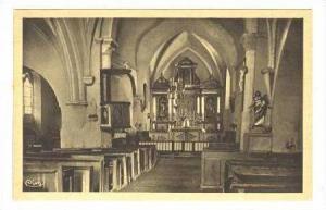 Interieur De l´Eglise, Pamplie (Deux-Sèvres), France, 1900-1910s