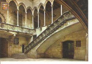 Postal 035537 : Barcelona. Palau de la Generalitat. Escaleria i galeria Gotica