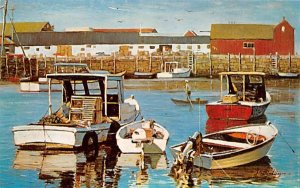 Lobster Boats Rockport, Massachusetts Postcard