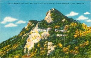 Observation Point on Grandfather Mountain Western North Carolina NCPostcard