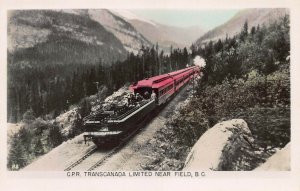 C.P.R. Transcanada Ltd, Near Field, B.C., Canada, Real Photo Postcard, Unused