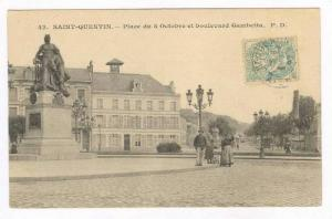 Saint-Quentin , France, PU-1908, Place du 8 Octobre et bpulevard Gambetta