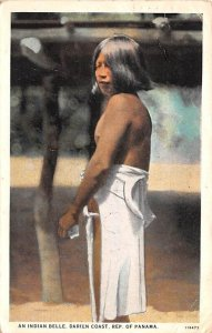 Indian Belle Darien Coast Panama 1928 Missing Stamp