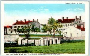 Fort Smith, Arkansas Postcard OLD FORT, Destroyed During Civil War c1930s