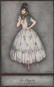 Art Deco ; Jennie HARBOUR ; La Elegida , 1910s ; TUCK 3801