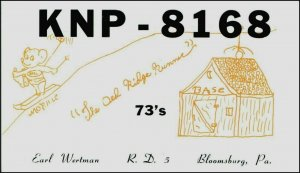 CB (Citizens Band) Folk Art Postcard