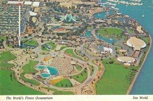 SEA WORLD San Diego, CA Oceanarium Mission Bay Continental Vintage Postcard