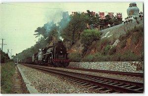 Wuhan, China - FD & RM Class Locomotives Doubleheading Good Trains, Vtg Postcard